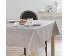 Nappe enduite à paillettes en lin beige 140x250 LUX
