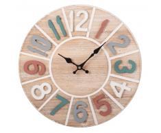 Horloge multicolore chiffres en relief
