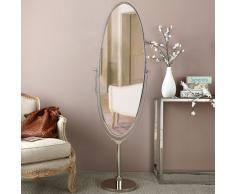 Miroir psyché en métal chromé 48x156