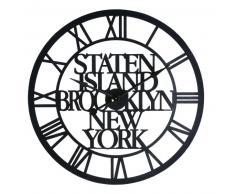 Horloge indus en métal noir
