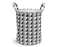 Panier à linge en tissu noir/blanc GRAPHIQUE