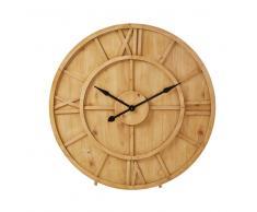 Horloge en sapin sculpté