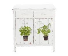 Buffet de cuisine en bois blanc L 80 cm Aromates