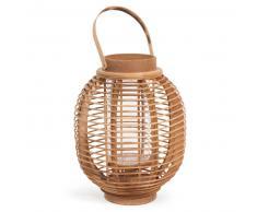 Lanterne en bois H 30 cm MENGWI