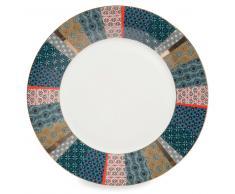Assiette plate en porcelaine D 27 cm BOHO