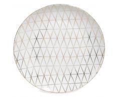 Assiette plate en porcelaine blanche D 27 cm OPALE