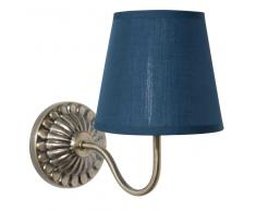 Applique en métal avec abat-jour bleu H 30 cm ORNELLA