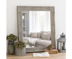 Miroir en paulownia beige 63x73
