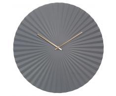 Horloge en métal gris D 50 cm PAVIA
