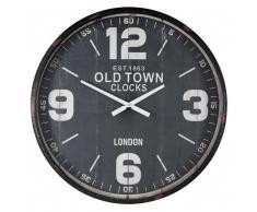 Horloge noire vieillie D.80cm HARROW
