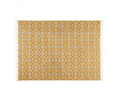 Tapis en coton jaune moutarde 140x200cm BLOCALIA