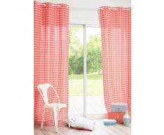 Rideau en coton rouge 105 x 250 cm MARINA