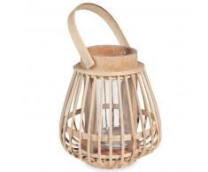 Bougeoir en bambou H 16 cm COMODORO