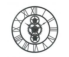 Horloge en métal noire D 100 cm TEMPS MODERNES