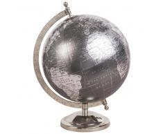 Globe terrestre noir et métal