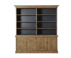 Vaisselier 4 portes 6 étagères en pin recyclé Spinoza