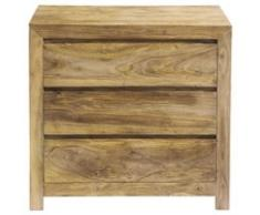 Commode en bois de sheesham massif L 85 cm Stockholm