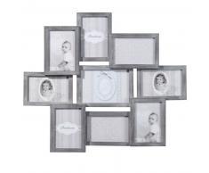 Cadre photo gris 9 vues 50 x 58 cm RELIEF