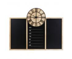Horloge avec tableau ardoise 130x103