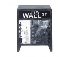 Table de chevet indus avec tiroir en bois grise L 42 cm Wall Street
