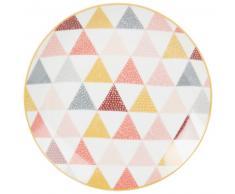 Assiette plate en porcelaine motifs graphiques