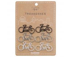 6 trombones vélo en métal tricolore