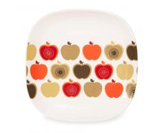 Assiette à dessert motif pommes en faïence D 18 cm THELMA