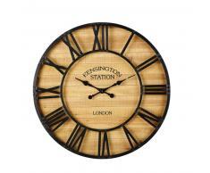 Horloge en pin et métal noir D92