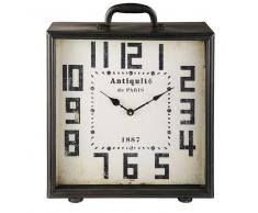 Horloge à poser en métal noir WILLOW