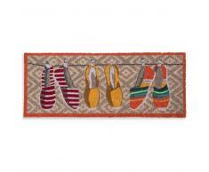 Paillasson coloré motifs espadrilles 75x30cm BAILA PLAYA