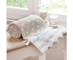 Serviette de bain en coton beige 50x100 SANS SOUCI