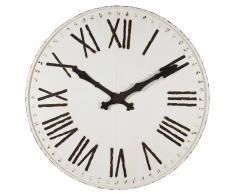 Horloge en métal blanc vieilli D.130cm VISBY