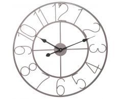 Horloge en métal grise D 60 cm WAILLY