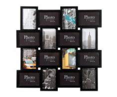 Cadre photo 16 vues noir 59 x 59 cm