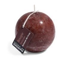 Bougie boule parfumée chocolat H 9 cm
