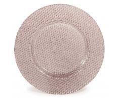 Assiette plate avec paillettes en verre D 28 cm PAILLETTE