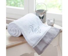 Serviette de bain en coton blanc 50x100 BAIN