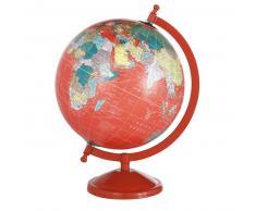 Globe terrestre carte du monde rouge SCHOOL