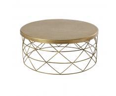 Table basse en aluminium et métal doré Zirka
