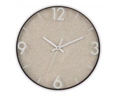 Horloge à paillettes dorées