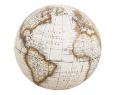 Statuette globe terrestre carte du monde en carton D10