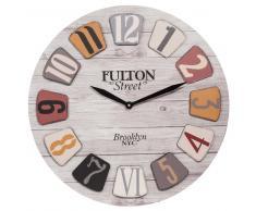 Horloge imitation bois D 60 cm FULTON