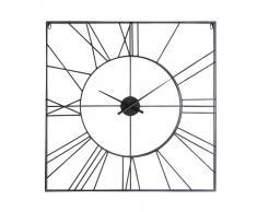 Horloge carrée en métal noir