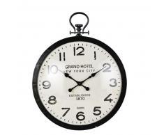 Horloge gousset en métal noir 74x93
