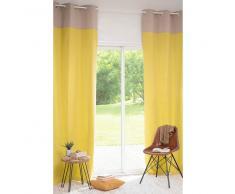 Rideau à œillets en coton jaune 105 x 270 cm WENGE