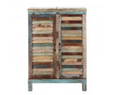Meuble de bar en bois recyclé multicolore L 75 cm Calanque