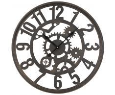Horloge à rouages en métal noir