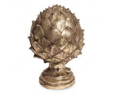 Statuette pomme de pin doré vieilli 20cm ELEGANCE