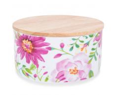 Pot en porcelaine motifs fleurs H 7 cm BOHÈME