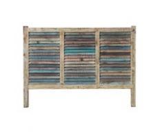 Tête de lit en bois recyclé L 140 cm Bahia
